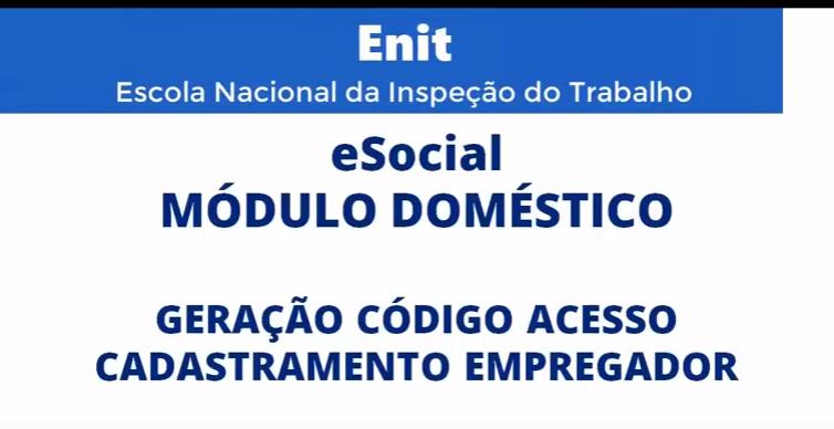 Cadastrar Código de Acesso e cadastrar empregador no eSocial